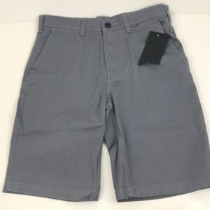 New Hurley Men's OAO Chino 2.0 Gray Work Shorts